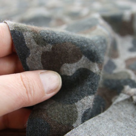 Significantly-20 brushed cotton dyed fabric) Military