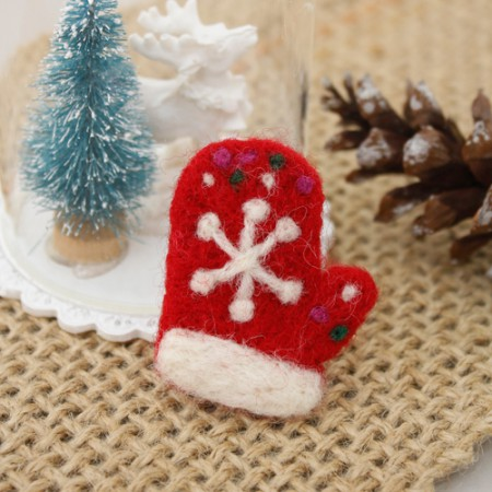 Felt Wool Felt Christmas Gloves