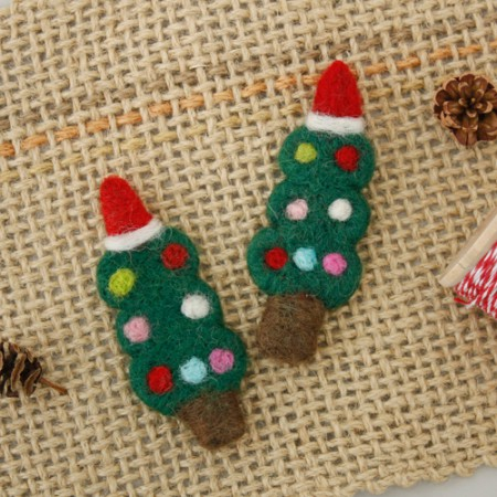 Wool) Christmas Accessories - Tree Handmade luxury up