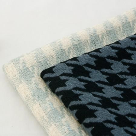 Wool blend fabrics) Wool check (2 kinds)