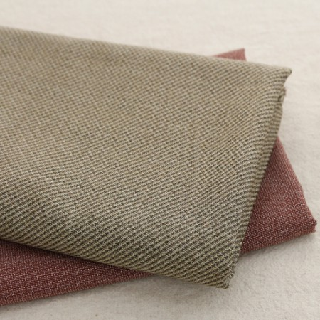 Large-wool blend fabric) Cup check (2 kinds)