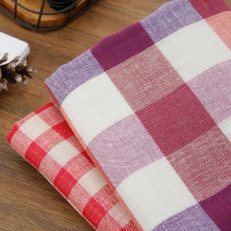 Double sided double gauze) vintage check (two kinds)