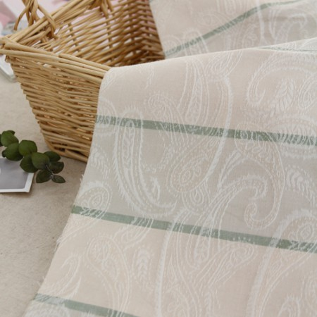 Cotton 30 jacquard fabric) Dyed stripe (Natural)