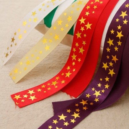 Ribbon tape Golden ribbon satin ribbon string 25mm (3Hermp / 4 species)