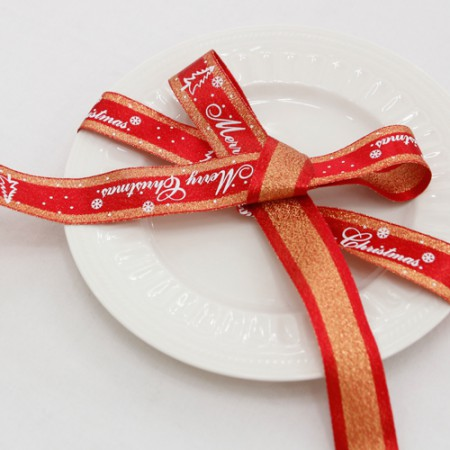 Chris Hermp Ribbon Churri logo ribbon tape 25mm Red (3Hermp)