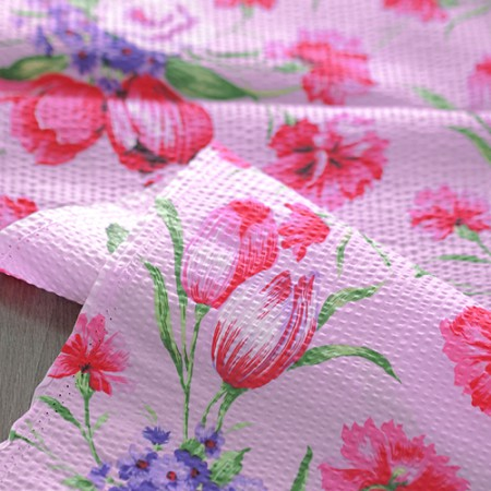 [20% off 2Hermp] Great -60 water ripple cotton) Summer Flower (Pink)