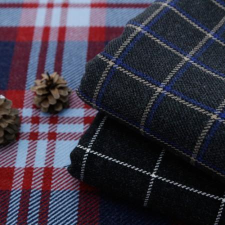 Widescreen - woolen fabric) Worm check (3 kinds)