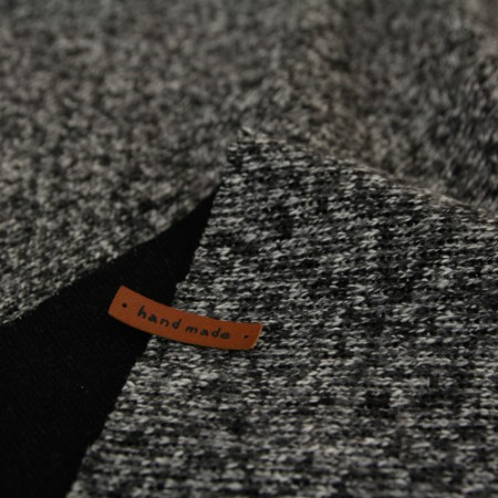 Large-knit brushed support team) Modern gray