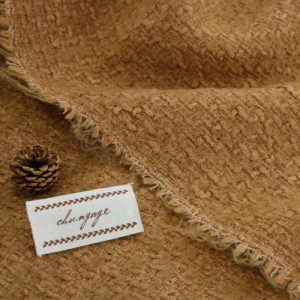 Big-Tweed Wool Fabric) Brown Solid