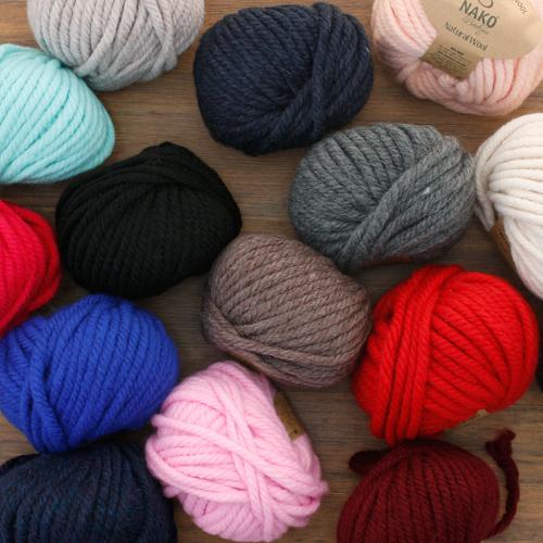 Knitting room) Natural wool (15 kinds)