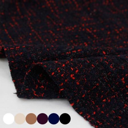 Large-wool fabric) Tweed Pearl (6 species)