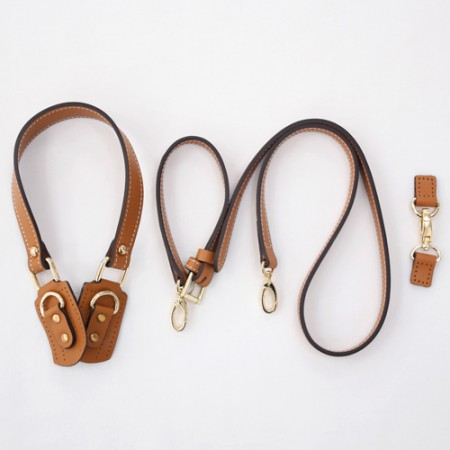 Luxury Leather Handles) Shoulder & Cross Set _ Smooth