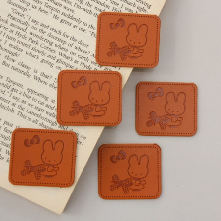 Leather label Cutie Rabbit 5 pieces [19]
