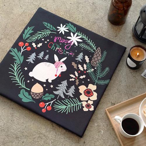 Classy linen cut paper) Mary Rabbit