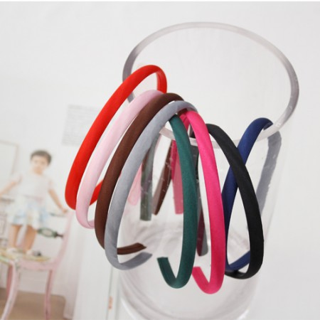 Satin headband 1cm (round type) 8 species