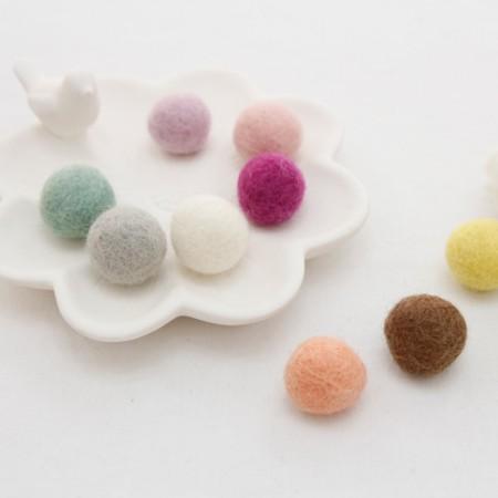 [2Piece] Fleece Ball _2cm (10 species)