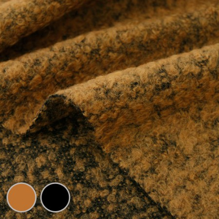 Big-Tweed Wool Fabric) Caramel Pudding