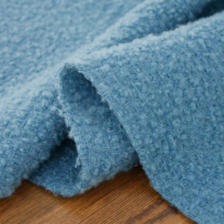 Large-wool blend) Blue Solid