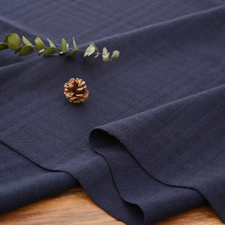 Large-wool blend fabric) Dark check