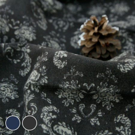 Wide-cotton brushed fabric) antique (2 species)