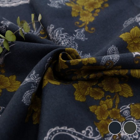 Wide-brushed cotton) Antique Paisley (2 kinds)