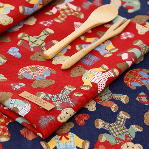 Cotton Fabric 20 Number Oxford Cloth) Affectionate Bear (2 species)