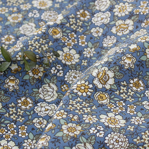 Cotton fabric 20 number oxford cloth) Evan flower