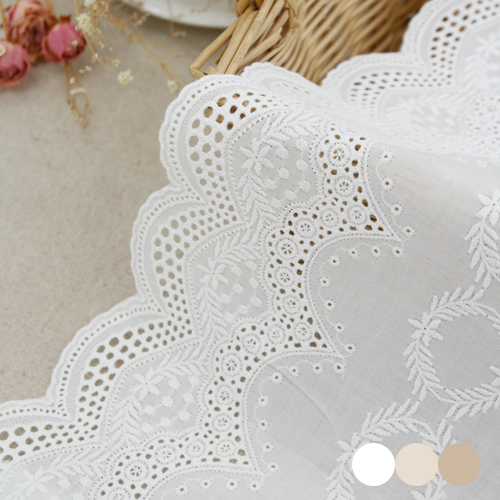 Table runner cotton lace R026 star (three kinds)