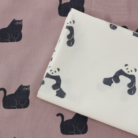 Cotton fabric DTP20 horizontal straight) day of the zoo (2 species)