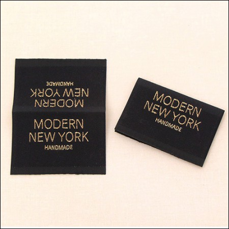 [2Piece] insert label) Modern New York Double Big embroidery label [LB013]