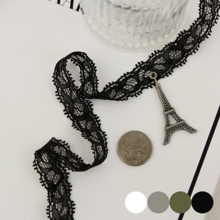 [3Hermp] Span mesh lace) Belita_10mm (4 kinds) - Hairband, good for bracelets