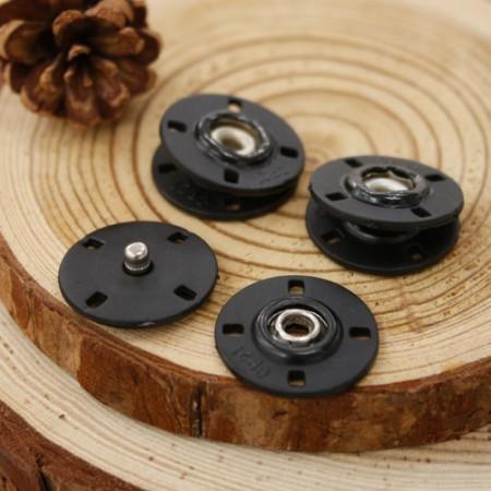 [C11] [5set] Handsawing snap button button 20mm_Black