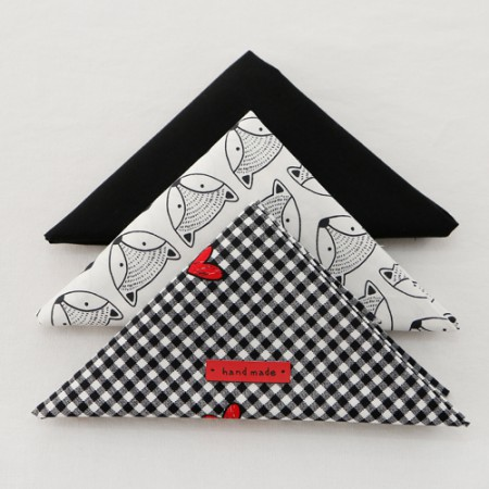 [It's 055] fabric package) Black & Heart (3 pack) 1 / 4Hermp