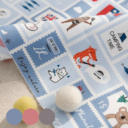 20 woven uniforms) Animal stamp (three kinds)