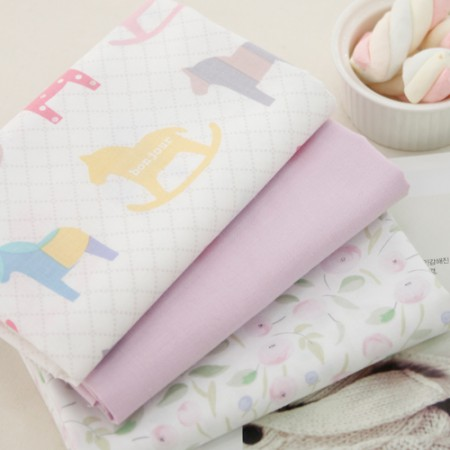 Cotton 20 horizontal plain fabric) Bonjour horse (three kinds)