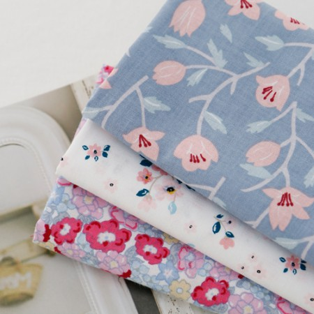Cotton 20 Horizontal plain fabric) Spring lily (3 kinds)