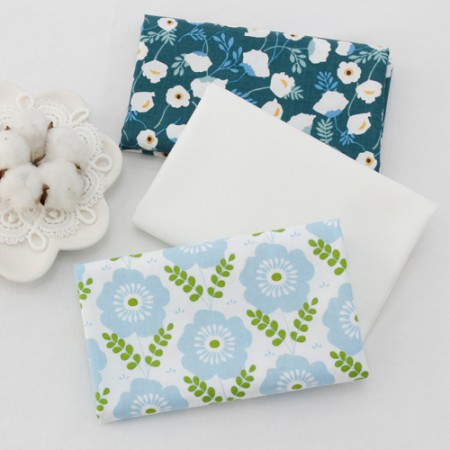 Cotton 20 horizontal straight fabrics) Heavenly garden (three species)