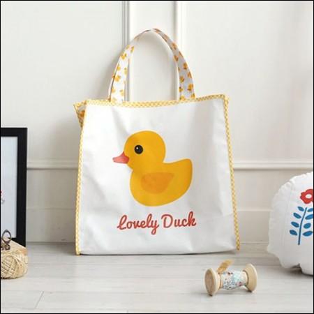 Classy linen cut paper) Lovely duck (duck)