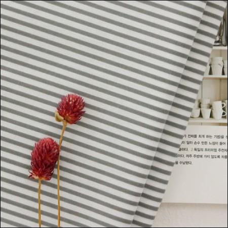 Cotton blend) Gray Stripe [3951]