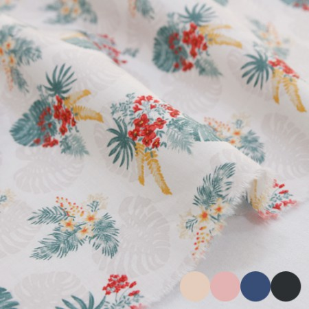 Large -30 woven plain weave) Hawaiian flower (four species)