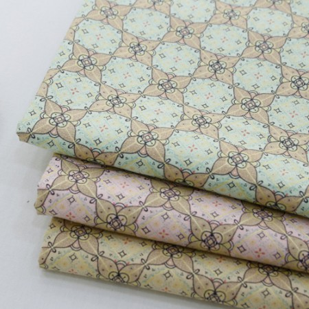 -Linen) Gold antique pattern (3 kinds)