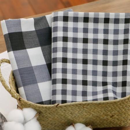 Cotton blend) Check Gray (2 kinds)