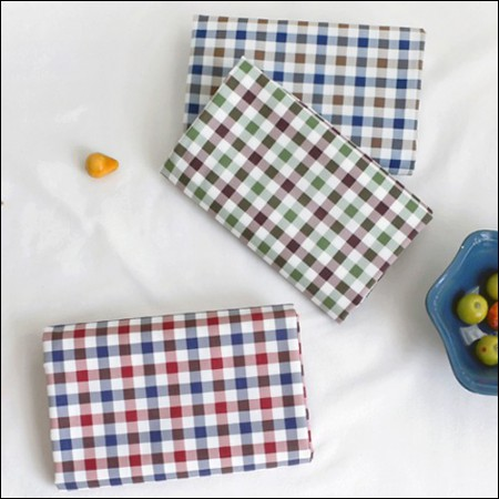 Waterproof Half Cotton) Eden Check (3 kinds)