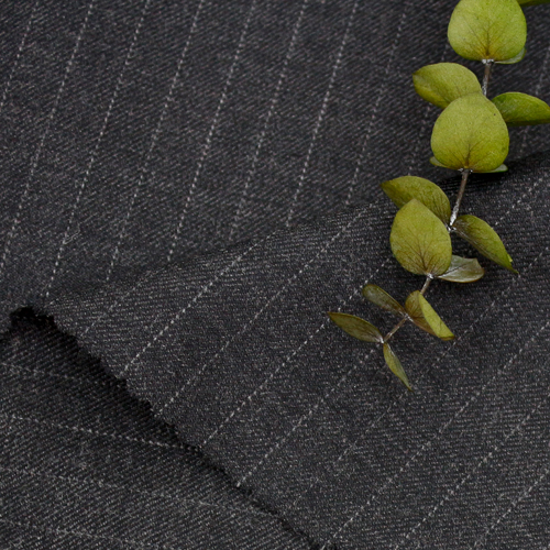 Large-wool blend) Charcoal gray stripes
