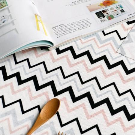 Classy linen cut paper) Rocky rod (pink zigzag)
