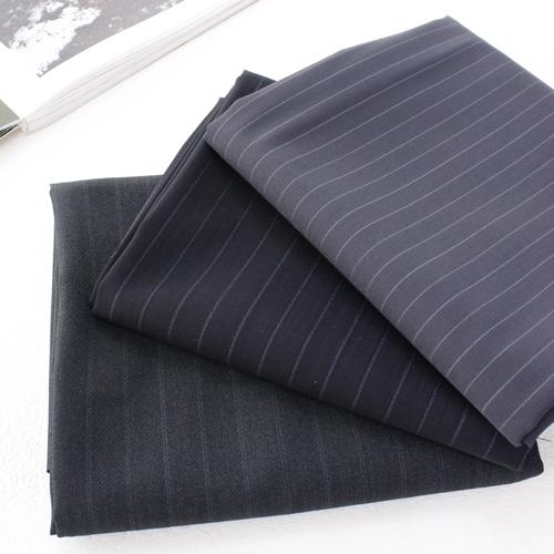 Large-wool blend) Stripe (3 kinds)