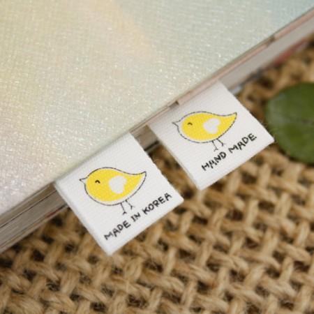 [5Piece] insert label) Baby bird