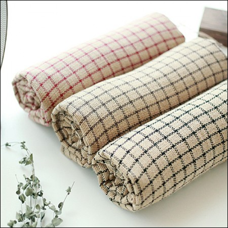 -Linen (jute)) Simple dyed check (3 kinds)