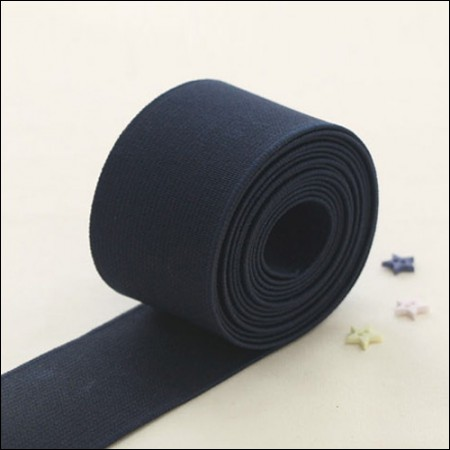 [1Hermp] waist rubber band) Tang Skinny elastic _40mm (Navy)