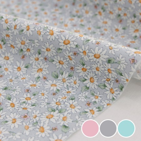 20 woven textiles) pastel flower (3 kinds)